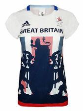 adidas Response Climachill T Shirt Womens 18 Team GB Olympics Running Gym