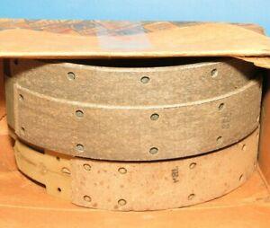 """NOS GM Front Brake Shoes .030"""" Oversize 1942-1948 Pontiac Torpedo 510747"""