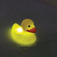 Pato de goma flotante de cambio de color Baño Cuarto de baño luz de estado de ánimo Stocking Relleno