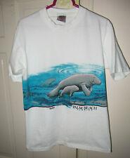 New listing Vtg 80s San Segal Manatee Ocean Palm Beach Florida White T-Shirt Men Size Medium