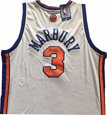 Stephon Marbury Signed Reebok Authentic Knicks Jersey Auto Steiner COA Size 52