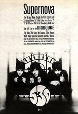 20/7/91 Pgn07 Advert: supernova Brand New Single From 5:30 & Live Dates 7x5