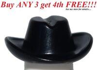 ☀️NEW Lego City Boy/Girl Minifig Hat Black Cowboy Cowgirl Riders Cap