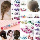 Newly 10Pcs Wedding Bridal Rhinestone Flower Crystal Hair Pins Clips Bridesmaid