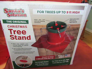 Santa's Solution Solid-Steel Christmas Tree Stand for Up To 9 Foot Trees