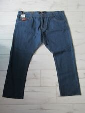 "PIERRE CARDIN Mens Mid Wash Blue Comfort Fit Jeans 48"" Waist Long Leg BNWT"