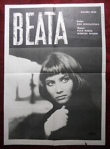 1965 Original Movie Poster Beata Anna Sokolowska Pola Raksa Pollish Opania Czech