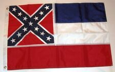 State of Mississippi 2' x 3' Nylon Flag w/ 2 Brass Grommets ~ NOS