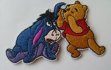 1 Iron On Sew On Machine Embroidered Applique Winnie the Pooh and Eyehore