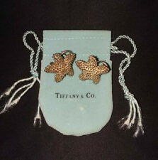 Tiffany & Co Sterling Silver Starfish Studded Bumpy Pierced Omega Earrings & Bag