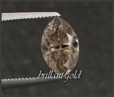 Diamant 0,46 ct, Navette Schliff, mit Zertifikat, Natürlich intensiv Braun/ Si1