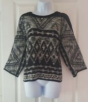 Womens Next Jumper size medium black white warm casual thick vgc
