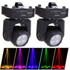 2PCS 60W RGBW Mini Beam Stage Lighting DMX512 Moving Head Light DJ Party Disco