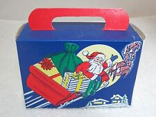 Vintage Christmas Holiday Greeting Santa's Sleigh 41/4 x3x 13/4 Old! T69