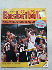 Panini Basketball 1992-93 Collectible Stickers Album Michael Jordan completed