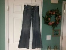 WOMEN'S 7 FOR ALL MAN KIND FLARE DISTRESSED JEANS SIZE 26