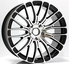 "19"" VORTEX WHEELS MACHINED BLACK FOR HOLDEN COMMODORE OR BMW WITH NEW TYRES"