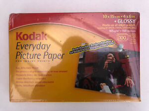 """Kodak Everyday Picture Paper Glossy 10x15cm (4x6"""") 165gsm 100 sheets New 1550243"""