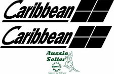 Caribbean Boat  vinyl decals TWO (2) 515 x 100 mm EACH
