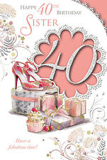 XPRESS YOURSELF SISTER - 40 TODAY! - 40TH BIRTHDAY CARD - CELEBRITY STYLE