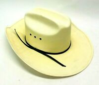 Western Express Classic Cattleman Straw Cowboy Hat With Rope