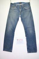 Lee Zed Code Y1271 tg47 W33 L34 jeans d'occassion taille haute vintage