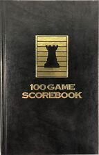 Black Chess Hardcover Scorebook - 100 Games - USA Made