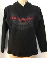 Harley-Davidson Boys #1 Black Pullover Side Seam Pocket Fleece Hoodie 6573023