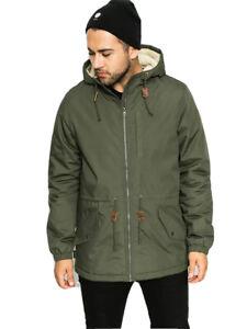 Men's Element Stark Sherpa Hooded Winter Jacket, Size M. NWT, RRP $179.99.