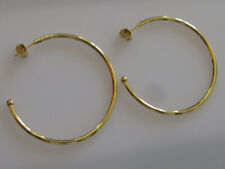 AUTHENTIC PANDORA EARRINGS LARGE HOOPS OF VERSATILITY #297694 18ct gold plated