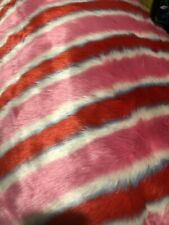 Habitat 5 X Metres Pink Blue Red faux Fur Fabric Shrimps Bridget Cushions Throw