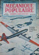 REVUE MECANIQUE POPULAIRE N° 032 POLE NORD TELEVISION FOND OCEAN TISSAGE 1949