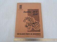 CATALOGO PARTI DI RICAMBIO ORIGINALE 1951 TRATTORE FIAT 25 T - R 25T 25R