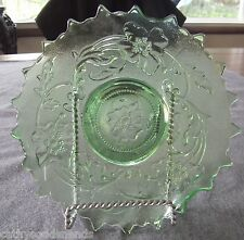 ANTIQUE NORTHWOOD GREEN POPPY VARIANT PATTERN NOVELTY BOWL/DISH