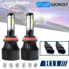 4-Side H11 LED Headlight Bulbs H8 H9 Kits 120W 32000LM Power 6000K White BLACK