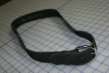 """silver buckle hand made USA clb5 f919L quality black leather GALCO 1 1/2"""" wide"""
