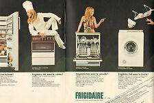 Publicité Advertising 1969 (Double page)  FRIGIDAIRE lave vaisselle frigo ...