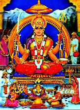 Religious Hindu Santoshi Maa Mata 3D Lenticular 10.5 X 13.5in Poster #HDL-01-PI#