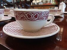Set of 6 Cups & 6 Saucers by Gien in the Aurelie and Herbier Rose French Country