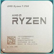 AMD RYZEN 7 1700 AM4 Desktop Unlocked CPU Processor With Wraith Spire LED Cooler