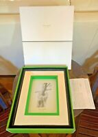 """Kate Spade Cabo Isabella 5x7"""" Picture Frame By Lenox - Green Silverplate Mirror"""