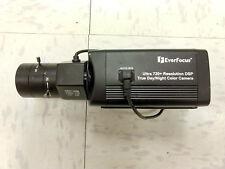 """EverFocus Box Camera (Black) EQ700 with 1.3"""" CCTV Lens"""