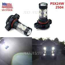 2800LM 50W CREE PSX24W 2504 Xenon White LED Daytime Running Fog Light Bulbs US