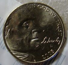 (#1) 2005-D One Uncirculated-60 Jefferson Bison Nickel Coin~Littleton Coin Co
