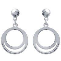 Boucles D'oreilles pendantes cercles  Argent Massif 925 Millièmes Bijoux femme
