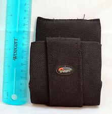 """Lowepro Black fabric Belt Filter Wallet Holder 5""""tall x 4""""w x 1.5""""d 5303027"""