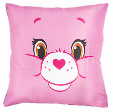 NEW OFFICIAL CHILDRENS PINK PURPLE 2 SIDED CARE BEAR CUSHION PILLOW CARE BEARS