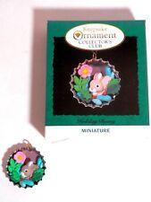 Hallmark Keepsake Coll Club Miniature Ornt Holiday Bunny, Qxc4191, 1994