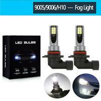 Pair 9006 HB4 LED Fog Light Bulbs High Power 100W 10000LM DRL Lamp 6000K White