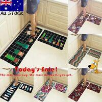 Home Kitchen Floor Mat Non Slip Runner Rug Set   2PCS